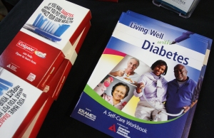 Pamphlets about living with diabetes are on display during a diabetes awareness event at the Spring Valley YMCA. KEVIN HOFFMAN — Mercury File Photo