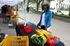Cynthia Brathwaite a loyal customer attends Wayne State University Market Day to purchase D-Town Farm's fresh produce. -