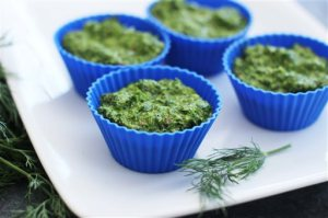 This March 23, 2015 photo shows fresh dill pesto in Concord, N.H. (AP Photo/Matthew Mead)