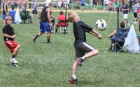 KEVIN HOFFMAN - THE MERCURY Volleyball players of all ages compete in the Pottstown Rumble.