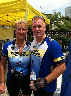 Lower Pottsgrove Police Chief Michael Foltz poses with his wife, Kathy, as they participate with thousands of cyclists in the 2011 Tour de Shore. Photo courtesy of Michael Foltz