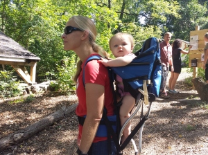 A Mercury Mile walker explored the woodsy trails at the Althouse Arboretum in Upper Pottsgrove while taking her niece along for the outdoor activity. Michilea Patterson — The Mercury