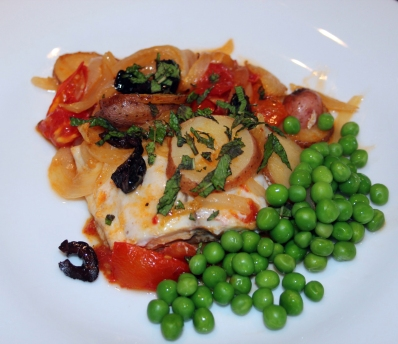 Photo courtesy of The Reading Terminal Market Cookbook, second edition Irina Smith shares her recipe for baked fish with tomatoes and olives.