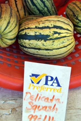 Photo by Emily Ryan Delicata squash has a mild flavor.
