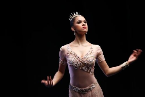 "In this image released by Sundance Selects, Misty Copeland appears in ""A Ballerina's Tale."" Copeland begins just her first season as a principal ballerina this week, and yet she's already achieved a crossover fame that few dancers if any could hope to have: she's a best-selling author and the subject of a new documentary. (Oskar Landi/Sundance Selects via AP)"