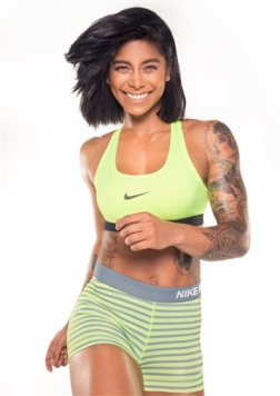 This undated image released by Stefan Williams shows Los Angeles-based trainer and fitness expert Massy Arias. Arias is one of the new crop of hard-core trainers who have won legions of followers sharing their fitness tips on Instagram with their secrets for staying motivated all year long.  (Sarah Orbanic via AP)