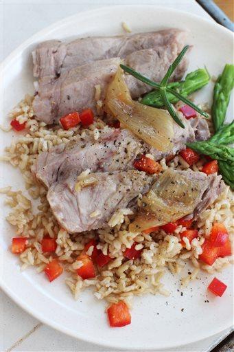 Food American Table Roast Pork
