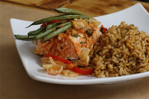 Food-Healthy Salmon Packets