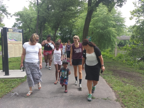 Mercury Mile participants walk along the Schuylkill River Trail at the Pottstown Riverfront Park. Digital First Media File Photo