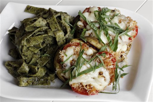 Food-KitchenWise-Grilled Eggplant Parmigiana