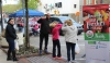 People gather downtown along High Street for the first ever outdoor farmers market in the borough. The market opened with a Cinco De Mayo celebration.