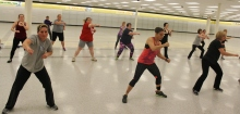 About 35 people attended the a free Zumba dance class at Coventry Mall. The class and future wellness initiatives are meant to increase community engagement at the mall.
