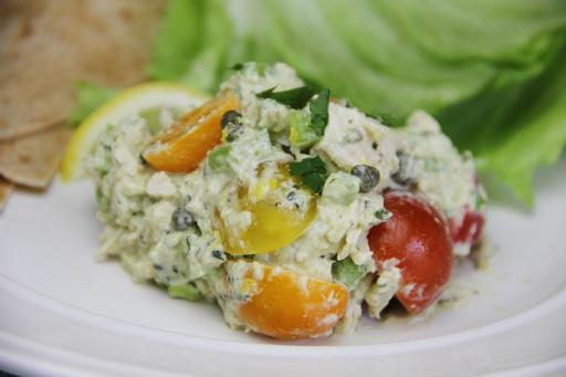 Food Healthy Lemon Pesto Chicken Salad