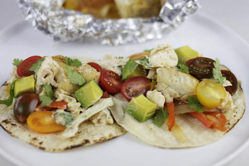 Food Healthy Foil Pack Fish Tacos