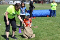 Children go through an obstacle course during a celebration of children event at the Pottstown High School Both Boyertown and Pottstown will have field day events Saturday with fitness activities. Digital First Media File Photo