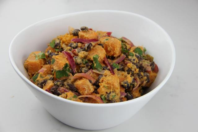 Food Healthy Plate Sweet Potato and Black Bean Salad