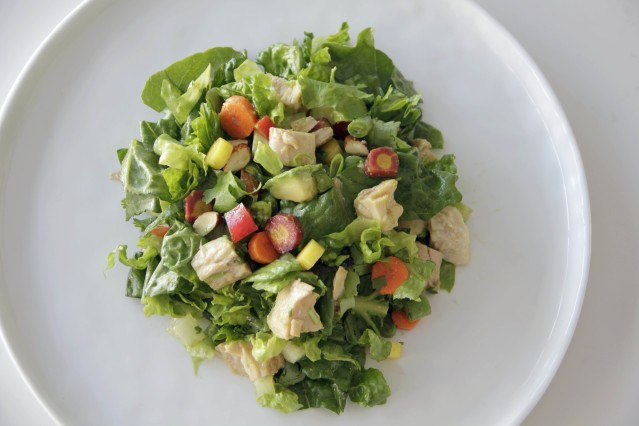 Food Healthy Plate Chopped Albacore Salad With Asian Dressing
