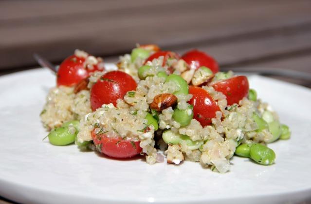 Food Healthy Edamame Quinoa Salad