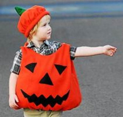 Lind Jensen-Sellers was dressed as a pumpkin for the costume contest in Pottstown. Digital First Media File Photo.
