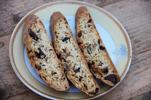 Food Healthy Dark Chocolate Rosemary Biscotti