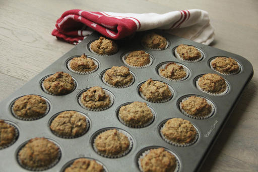 Food Healthy Banana Oat Mini Muffins