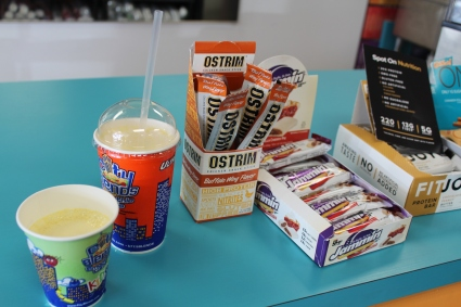 High protein snacks such as shakes and bars are on display. Protein is an important nutrient for both before and after workout meals. Digital First Media File Photo