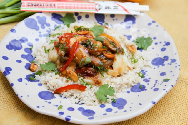 Food Healthy Kung Pao Fish